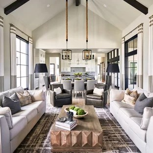 award winning living room designs small fireplaces 75 most popular design ideas for 2019 stylish example of a transitional open concept carpeted and gray floor in other with
