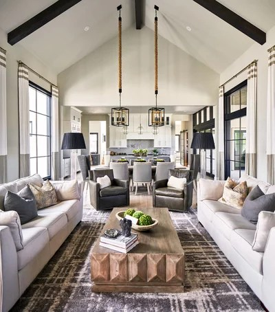 Transitional Living Room by Keith Wing Custom Builders