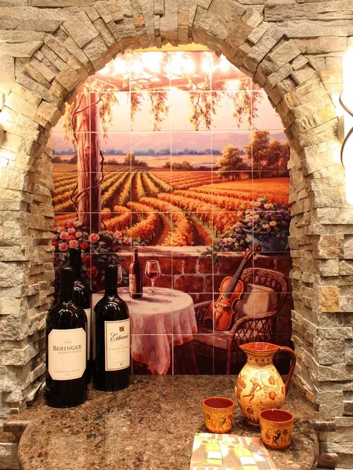 Tuscan Mural Home Design Ideas Pictures Remodel and Decor
