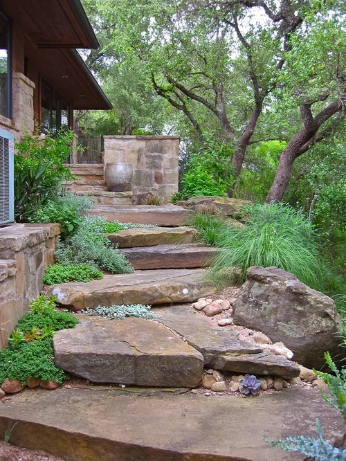 natural stone steps home design