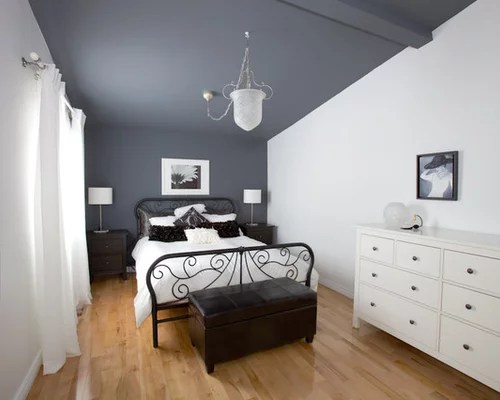 white walls grey ceiling bedroom Dark Taupe Accent Wall | Houzz