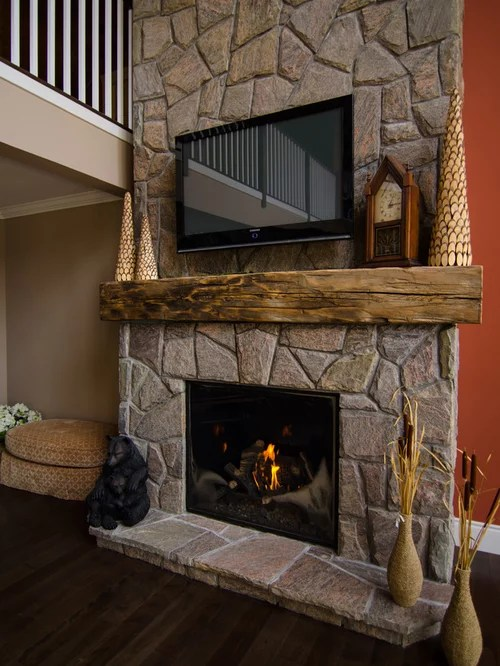 Best Barn Beam Mantel Design Ideas  Remodel Pictures  Houzz