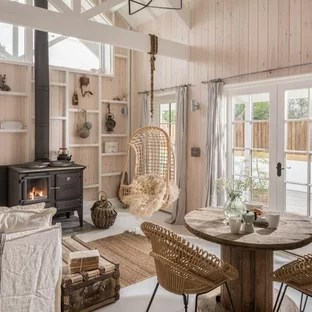 log cabin living rooms ideas african themed room small photos houzz inspiration for a rustic enclosed gray floor remodel in cornwall with beige walls