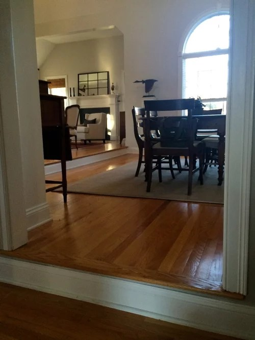 laminate flooring sunken living room side tables designs treacherous step down from into dining