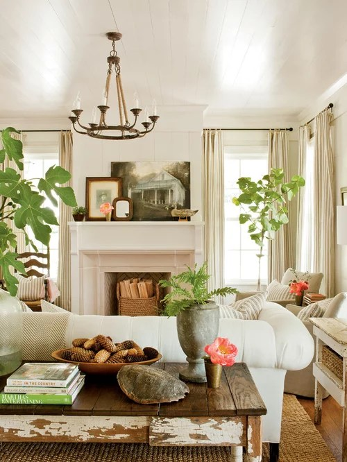 Farmhouse Living Room Design Ideas, Remodels & Photos | Houzz