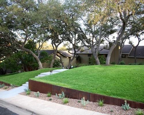 sloped front yard