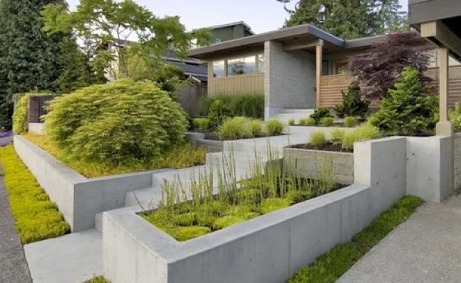Concrete Retaining Wall Home Design Ideas Pictures