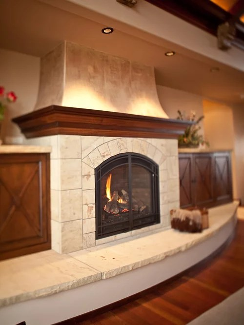 Curved Hearth Home Design Ideas Pictures Remodel and Decor