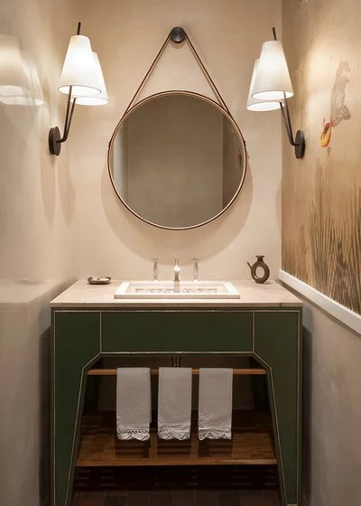 Contemporary Powder Room by Emily Henry Interiors