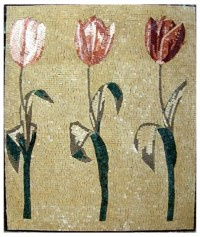 Mosaic Wall Art, Tritulip