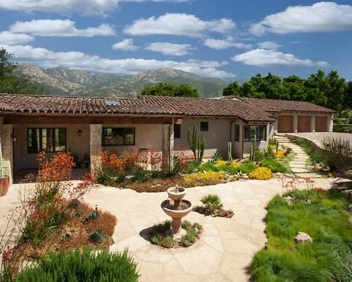 ranch style front yard landscape