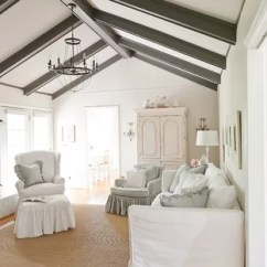 White Slipcovered Sofa Living Room Simple Interior Design For Small In India Houzz Inspiration A Timeless Enclosed Remodel Nashville With Walls