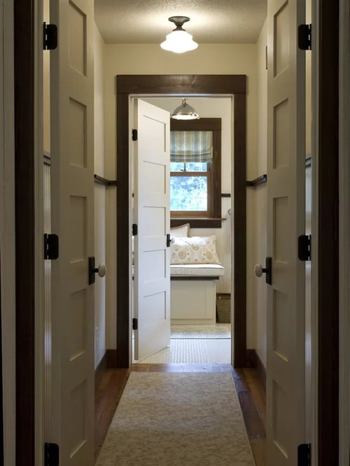 Stained Trim Painted Door  Houzz