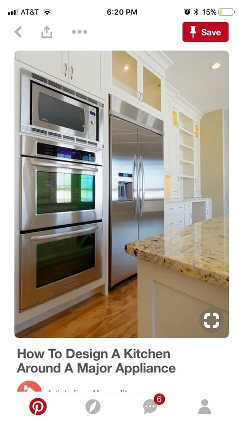 double oven with microwave