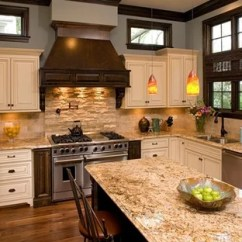 Travertine Kitchen Backsplash Hotel With New York Oakley Home Builders Traditional Chicago By