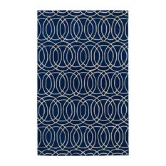 Kaleen Hand Tufted Revolution Navy Wool Rug 3'x5'
