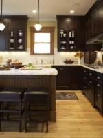 Dark Cabinets Light Floor Home Design Ideas, Pictures ...