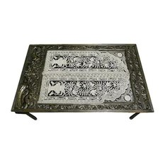 Mogul Interior - Consigned Ornate Bone Inlay Floral Table Hand Carved Dining Table - All of our items are one off pieces of unique or just lovely furniture which have been lovingly restored to create the original pieces that we sell.