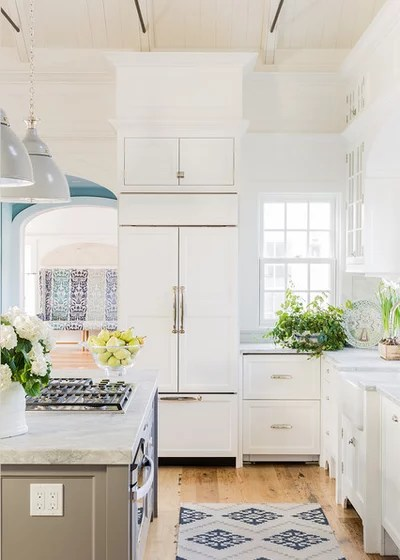 Kitchen Of The Week Contemporary Twist On Classic Coastal