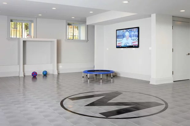 Contemporary Basement by Foster Design Build SPD Corp
