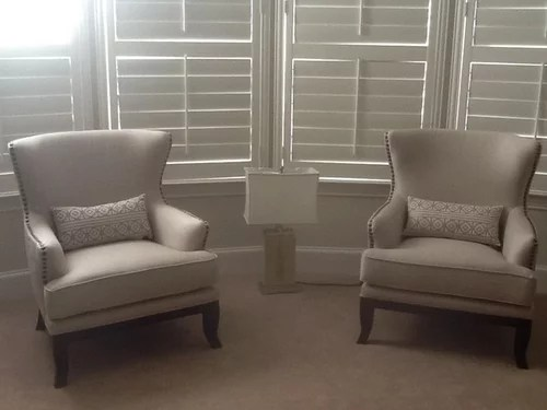 bedroom chair with table hanging stand canada what would work between these two chairs