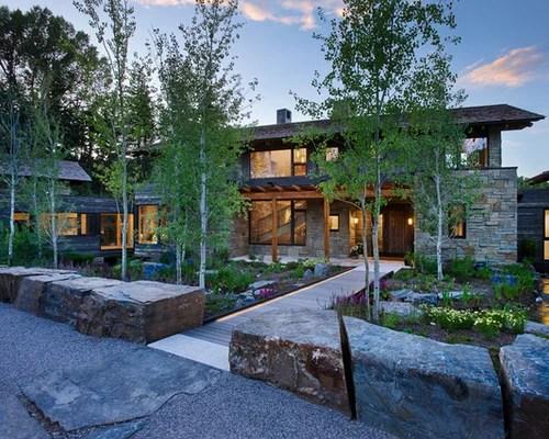 rustic front yard landscape ideas