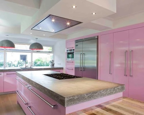 Pink Kitchen Home Design Ideas Pictures Remodel and Decor