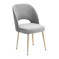chair with light aeron size chart 50 most popular gray dining room chairs for 2019 houzz tov furniture swell velvet