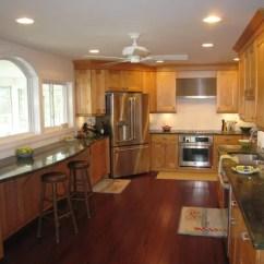 Solid Wood Kitchen Island Home Styles Americana Corner Refrigerator | Houzz
