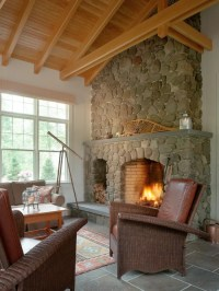 Natural Stone Fireplace | Houzz