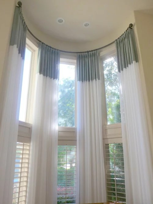living room curtain ideas for bay windows decorations on a budget tall window treatments home design ideas, pictures ...