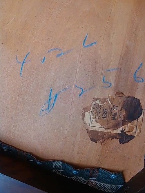 tell city chairs pattern 4526 cafe help identity this chair i know it was manufactured at company the number is 1 and that finish mahogany 27