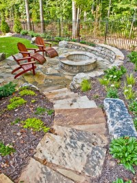 Fire Pit On A Slope | Houzz