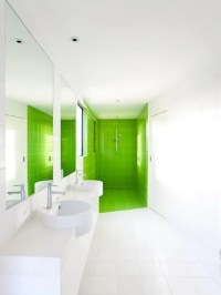Modern White Bathroom   Houzz