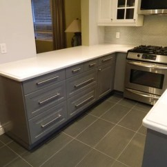 Walnut Cabinets Kitchen Moen Hands Free Faucet Ikea Kitchens - Bodbyn Gray And White