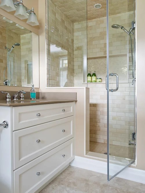 Traditional Bathroom Design Ideas Pictures Remodel  Decor with Beige Tile