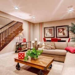 Basement Living Rooms Room Furniture With Lumbar Support Houzz Elegant Look Out Carpeted And Beige Floor Photo In Denver Walls
