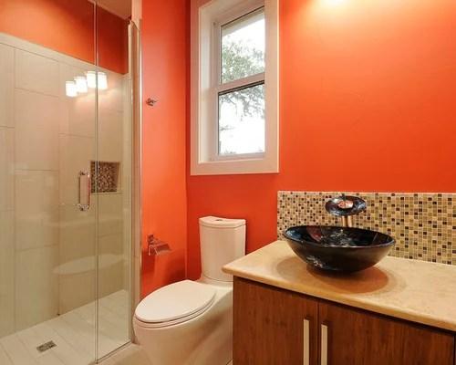 light orange color bathroom Bathroom Design Ideas, Renovations & Photos with Light