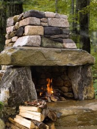 Houzz | Rustic Outdoor Fireplace Design Ideas & Remodel ...