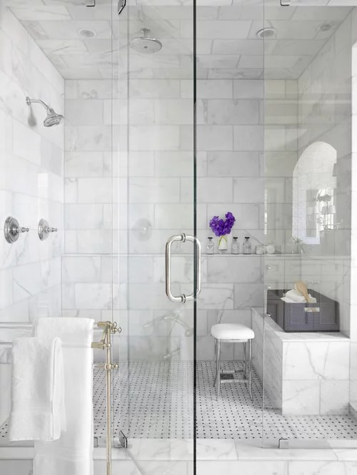 Same Floor And Shower Tile Home Design Ideas Pictures Remodel and Decor