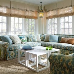 Custom Made Fabric Sofa Singapore Helena Sunroom Window Treatment | Houzz