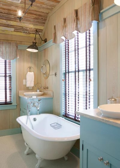 Farmhouse Bathroom by Our Town Plans
