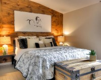 Rustic Bedroom Ideas & Photos with Painted Wood Flooring