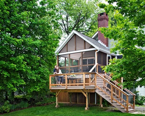 Bi Level Deck Home Design Ideas Pictures Remodel and Decor