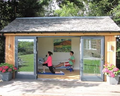 Garden Summerhouse Home Gym Design Ideas Pictures Remodel & Decor