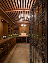 Wrought Iron Wine Cellar Door | Houzz