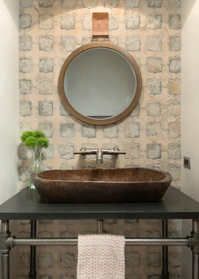 Farmhouse Powder Room by North Fork Builders of Montana, Inc.