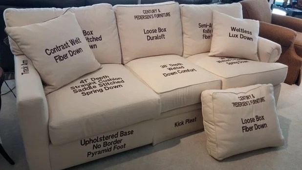 sofa cushion foam types mid century danish leather how to choose the right