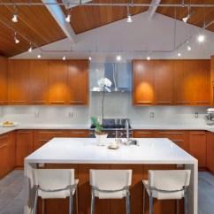 Slate Kitchen Appliances Hide Trash Can Horizontal Cabinet Pulls | Houzz