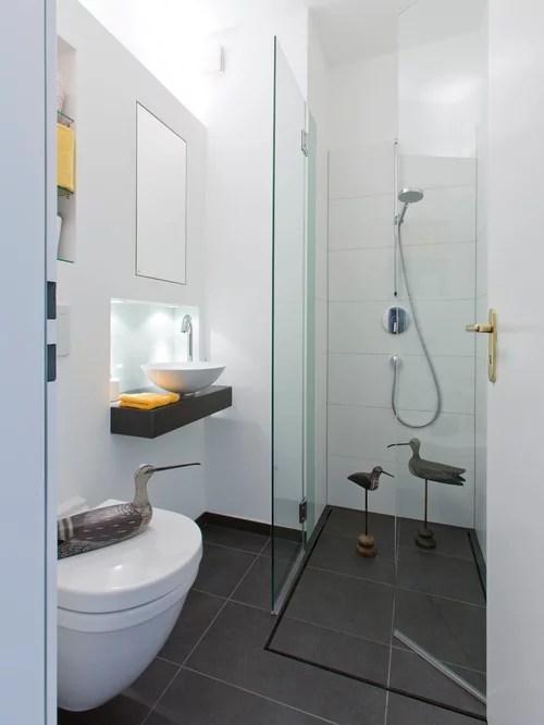 Ideen fr kleine Bder Gste WC mit Dusche